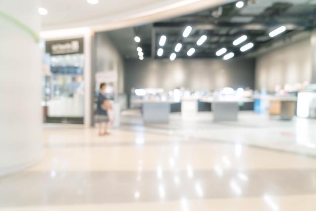 Borrão abstrata no shopping de luxo e loja de varejo Foto Premium