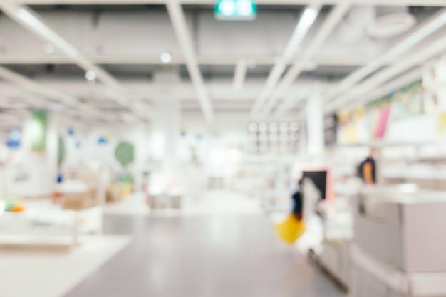 Borrão abstrato decoração de móveis e loja de armazém Foto gratuita