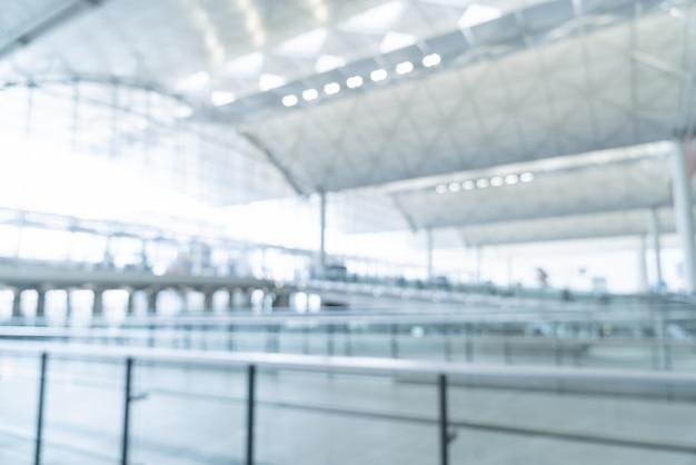 Borrão abstrato e aeroporto desfocado Foto Premium