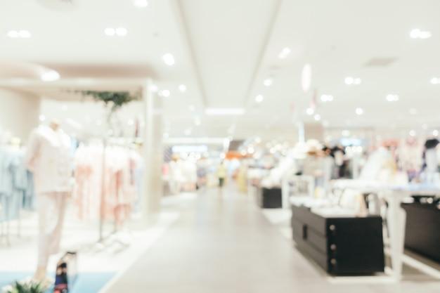 Borrão abstrato e shopping desfocado em loja de departamento Foto gratuita