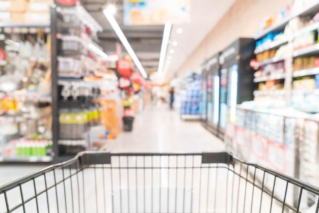 Borrão abstrato no supermercado Foto gratuita
