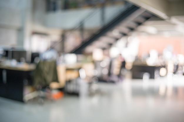 Borrão de fundo de escritório moderno Foto Premium