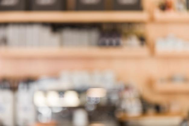 Borrão de fundo de loja de café Foto gratuita