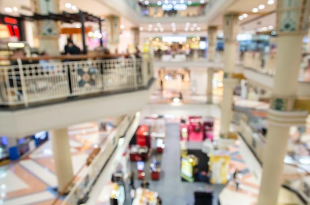 Borrão de fundo de loja de departamento interior Foto Premium