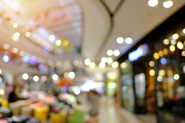 Borrão de fundo de loja de departamentos com bokeh Foto Premium