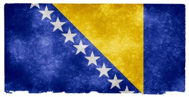 Bósnia e herzegovina grunge bandeira Foto gratuita