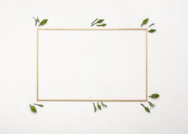 Botões de flores de cravo em torno de um quadro horizontal vazio Foto gratuita