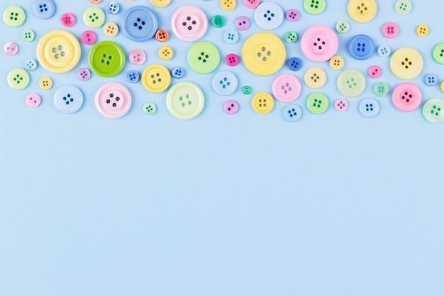 Botões de plástico colorido Foto Premium