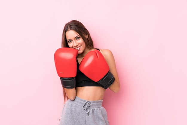 Boxe desportivo caucasiano jovem Foto Premium