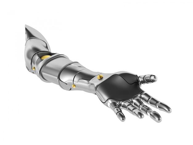 Braço robótico de metal isolado Foto Premium