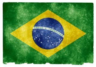 Brasil grunge bandeira Foto gratuita