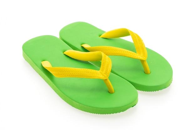 Brilhante sandália fundo trajeto verão Foto gratuita