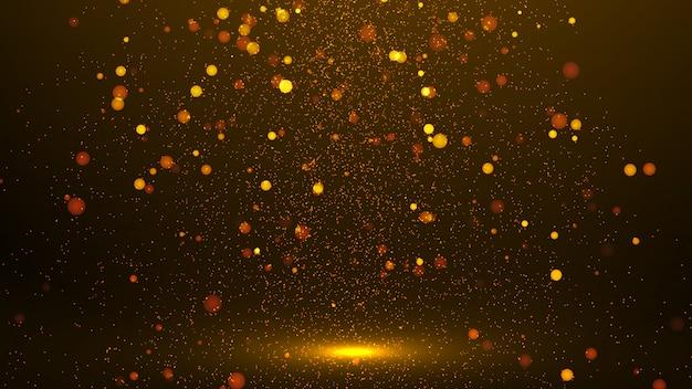 Brilhos dourados abstratos ou luzes de brilho Foto Premium