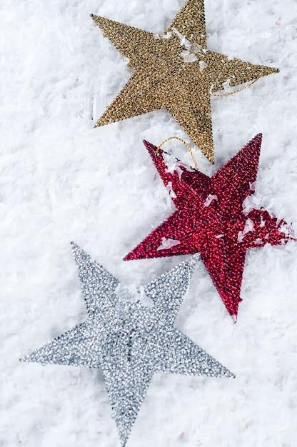 Brinquedo de natal em forma de estrela Foto Premium