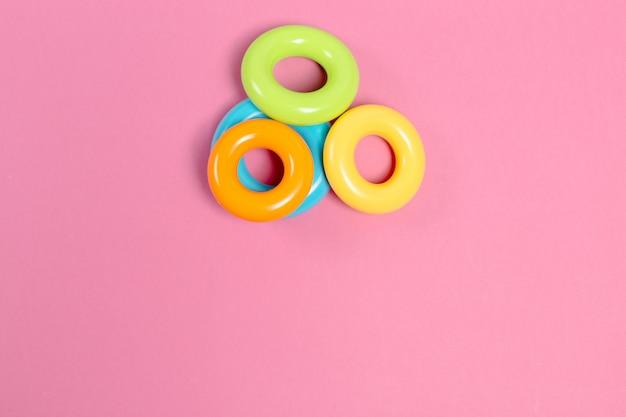 Brinquedos para crianças, vista superior Foto Premium