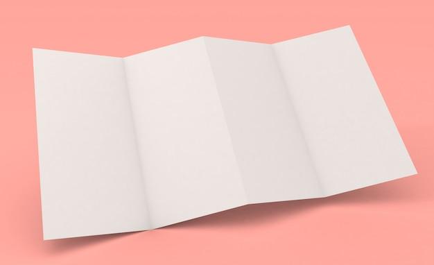 Brochura de dobra de acordeão maquete de quatro páginas Foto Premium