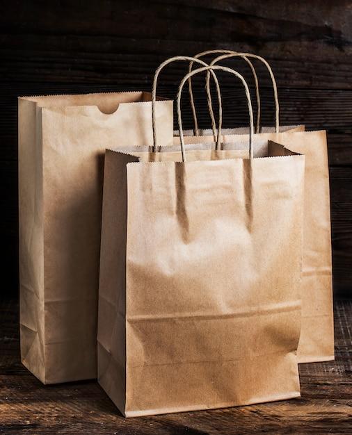 Brown sacos de papel reciclável, papel marrom reciclável sacos, Foto gratuita
