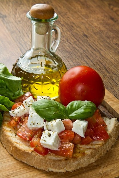Bruschetta italiana Foto Premium