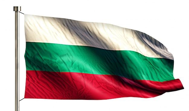Bulgária bandeira nacional isolada 3d fundo branco Foto gratuita