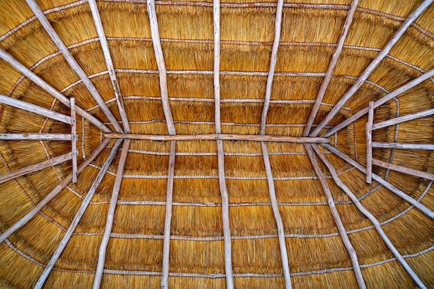 Cabana de telhado de palapa de cancun Foto Premium
