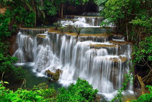 Cachoeira na floresta Foto Premium