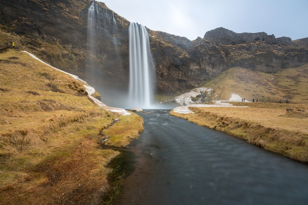 Cachoeira seljalandsfoss Foto Premium