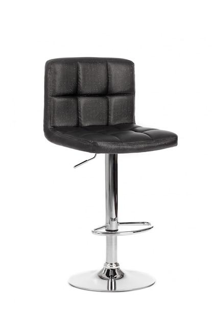 Cadeira de bar moderno preto isolada no fundo branco Foto Premium