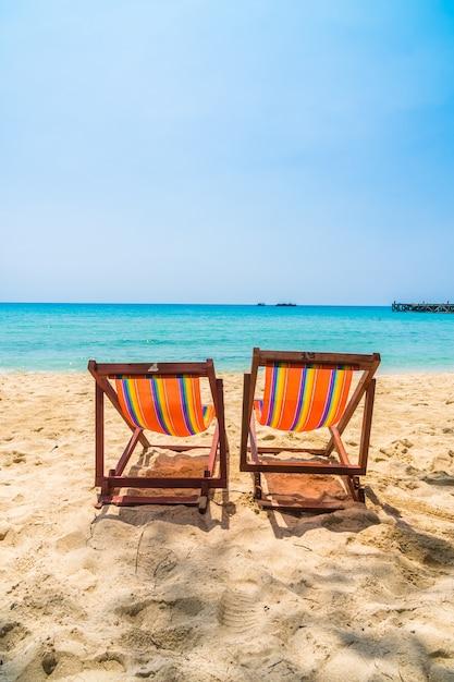 Cadeira na praia Foto gratuita
