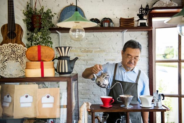 Café bar prazer relaxamento service business Foto Premium