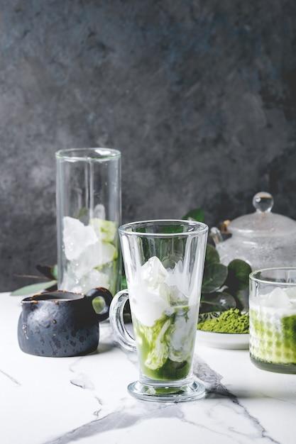 Café com leite gelado Foto Premium