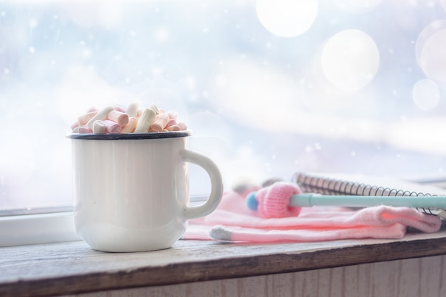 Café com marshmallows Foto Premium