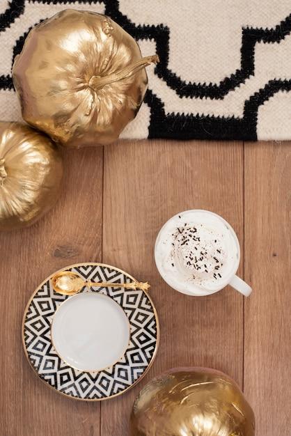 Café de outono Foto Premium