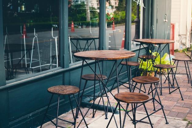 Café e assento Foto Premium