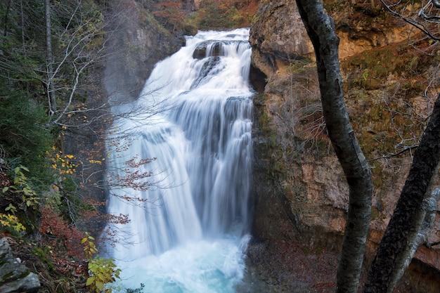 Cai no parque nacional de ordesa, pirinéus, huesca, aragão, espanha Foto gratuita