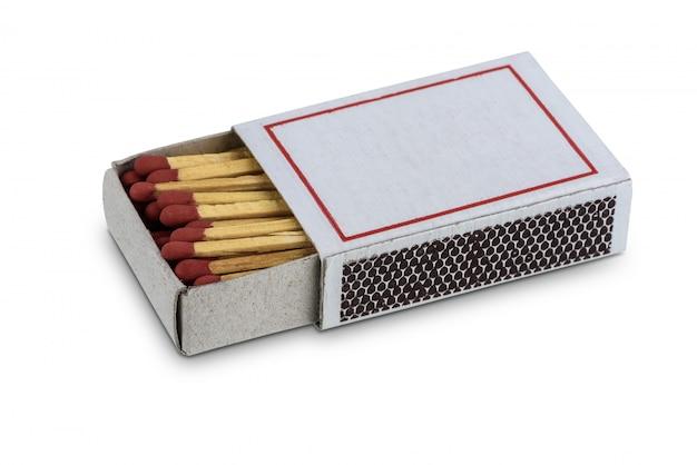 Caixa de fósforos isolado no branco Foto Premium