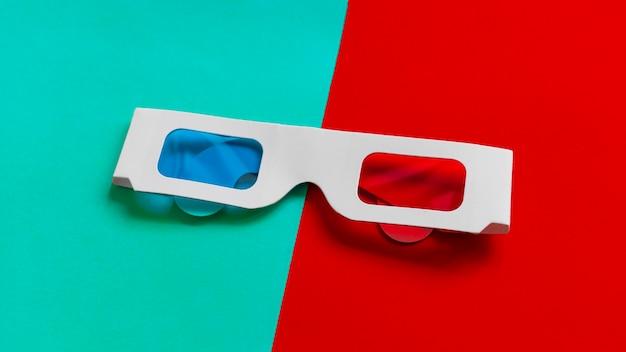 Caixa de óculos 3d Foto gratuita