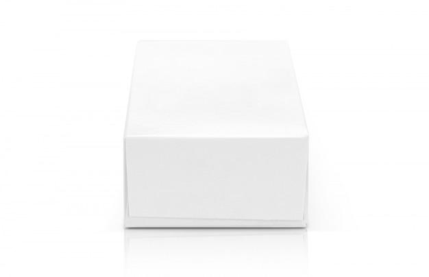 Caixa de papel branco para design de produtos. Foto Premium