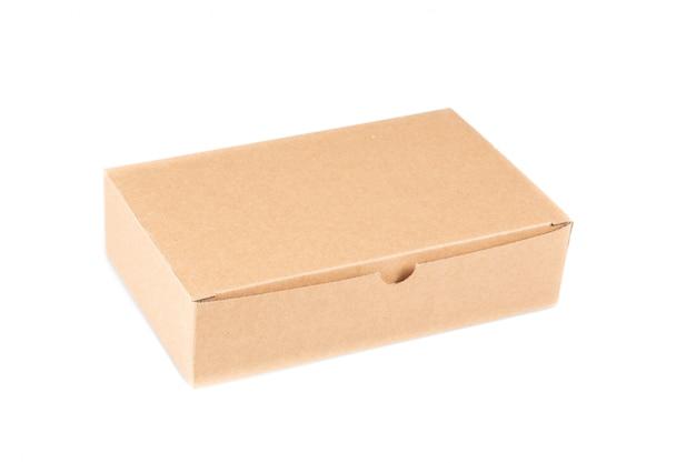 Caixa de papelão marrom Foto Premium