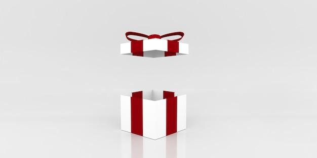 Caixa de presente cor aberta enquanto. ilustração 3d Foto Premium