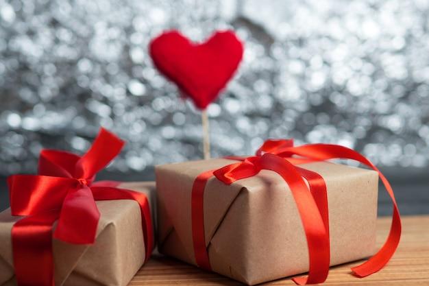 Caixa de presente para o dia dos namorados Foto Premium