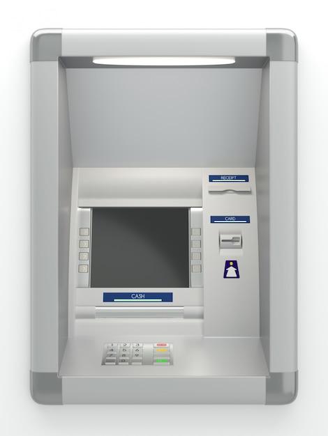 Caixa eletrônico na parede Foto Premium