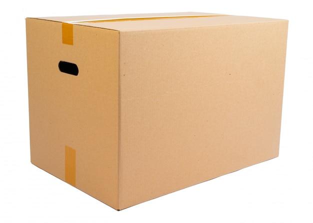 Caixa móvel de caixa única isolada no branco Foto Premium