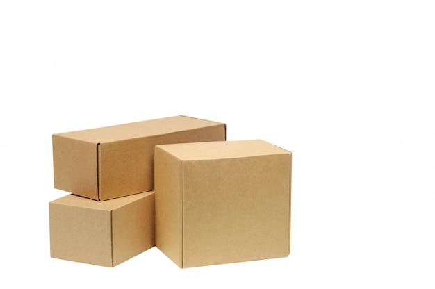 Caixas de papelão para mercadorias em branco Foto Premium