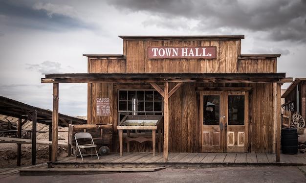 Calico é uma cidade fantasma no condado de san bernardino, califórnia Foto Premium