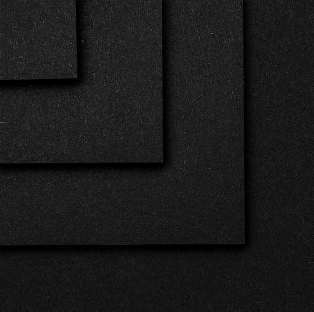 Camadas de quadrados pretos fundo vista superior Foto gratuita