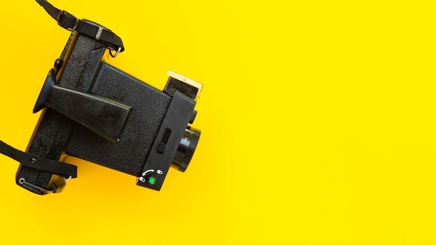 Câmera de alto ângulo com close-up Foto gratuita
