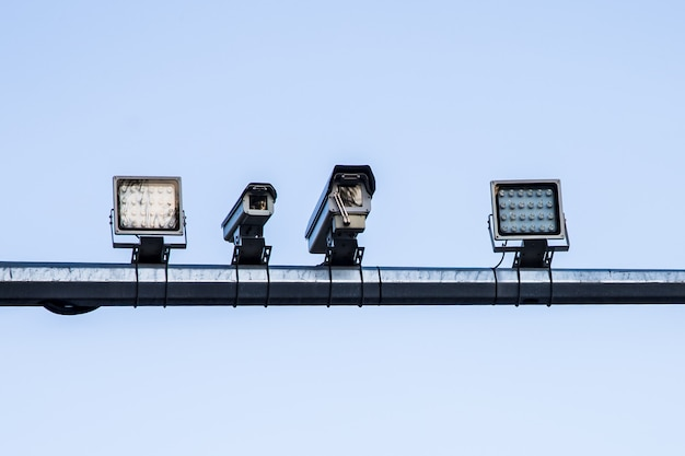 Câmera de controle de velocidade Foto Premium