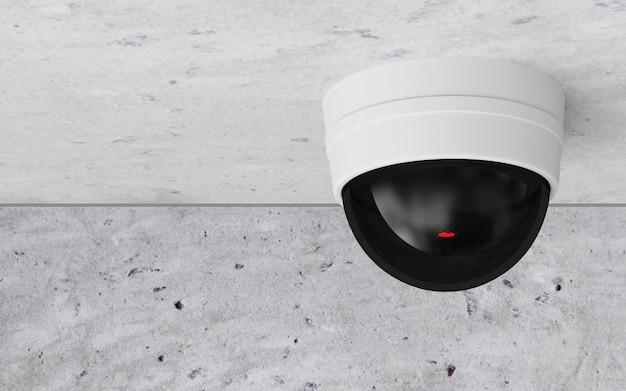 Câmera de segurança cctv moderna no teto Foto Premium