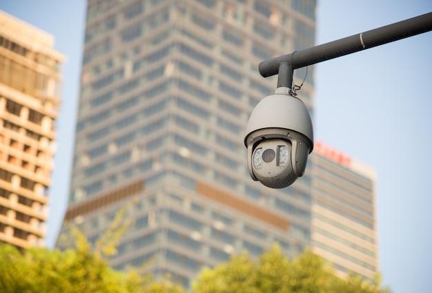 Câmera de segurança e vídeo urbano Foto gratuita