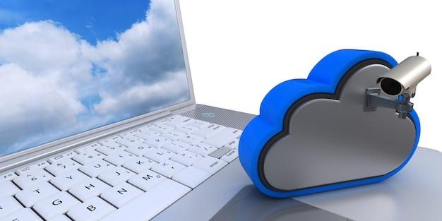 Câmera de vídeo na nuvem Foto gratuita